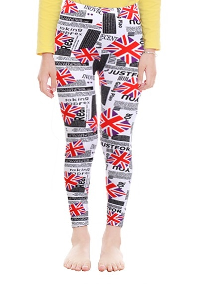 Kids Leggings British Flag - orangeshine.com