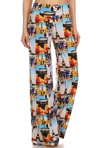 Womens Palazzo Pants Flared - orangeshine.com