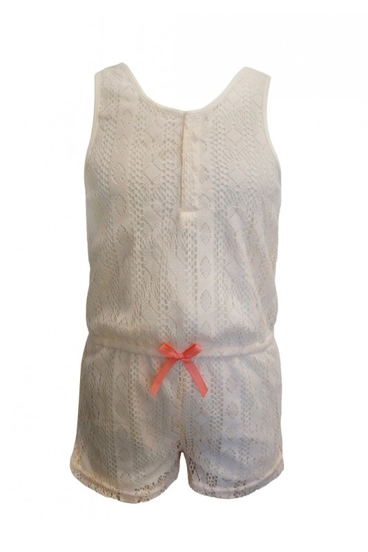 Big Kids Lace Rompers Ivory  - orangeshine.com