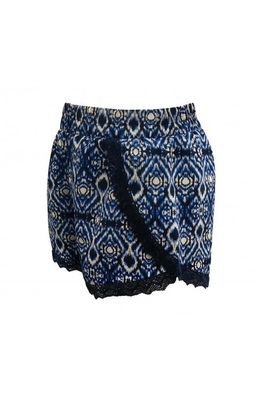 Abstract Kids Shorts Blue - orangeshine.com