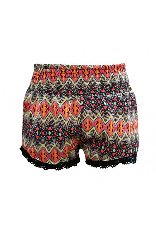 Big Kids Shorts Aztec Neon  - orangeshine.com
