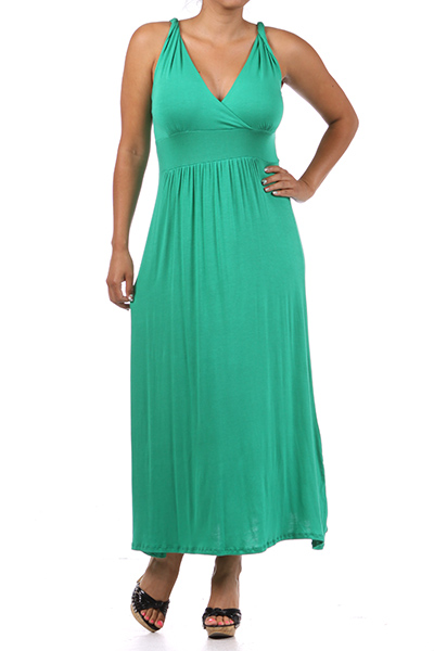Sweetheart Neck Maxi Dress - orangeshine.com