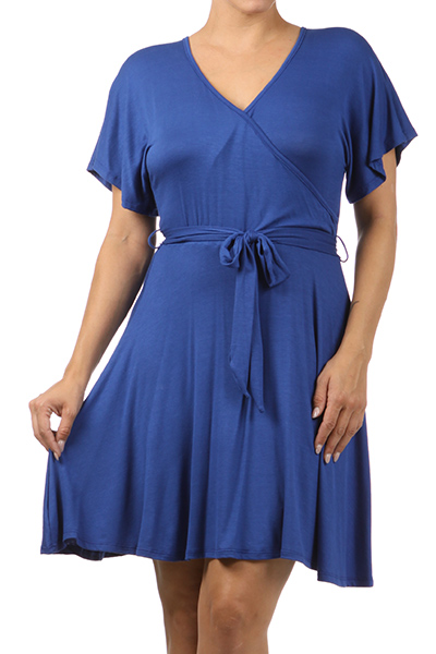 Wrap Dress w/ Waist Tie - orangeshine.com