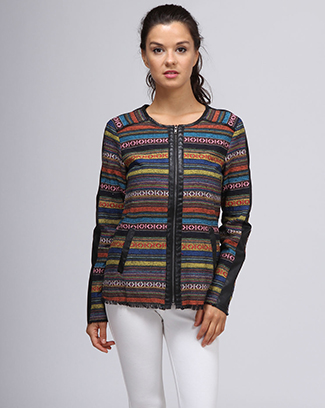 ETHNIC TRIM JACEKT JACKET - orangeshine.com