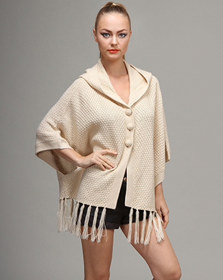 HOODED FRINGE CARDIGAN - orangeshine.com