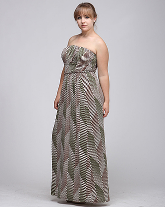 CHEVRON TUBE MAXI DRESS - orangeshine.com