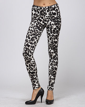 LEOPARD PRINT LEGGINGS - orangeshine.com