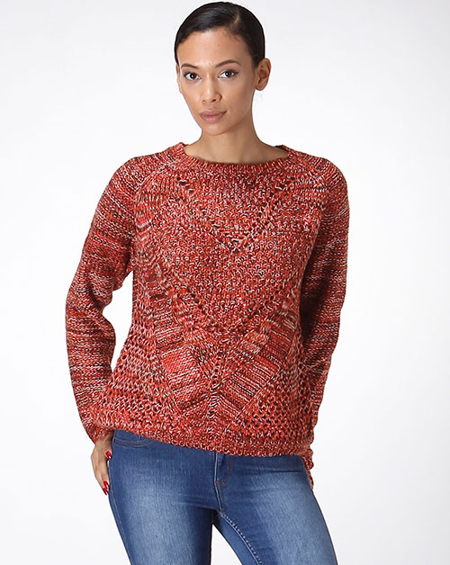 INTERTWINED SEQUIN KNIT SWEATER - orangeshine.com