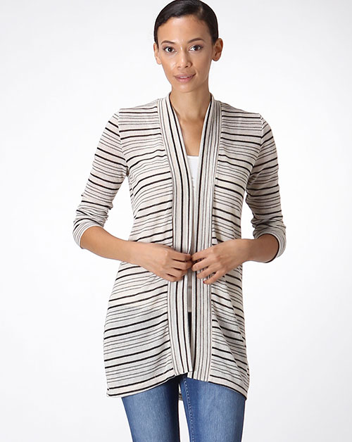 STRIPE CARDIGAN - orangeshine.com