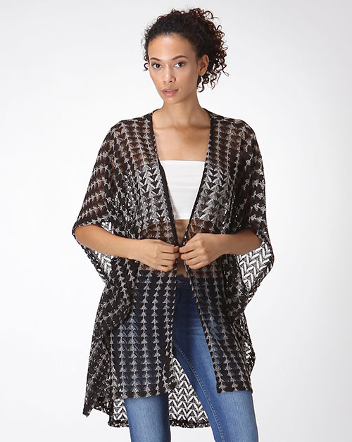 CHEVRON LACE CARDIGAN - orangeshine.com