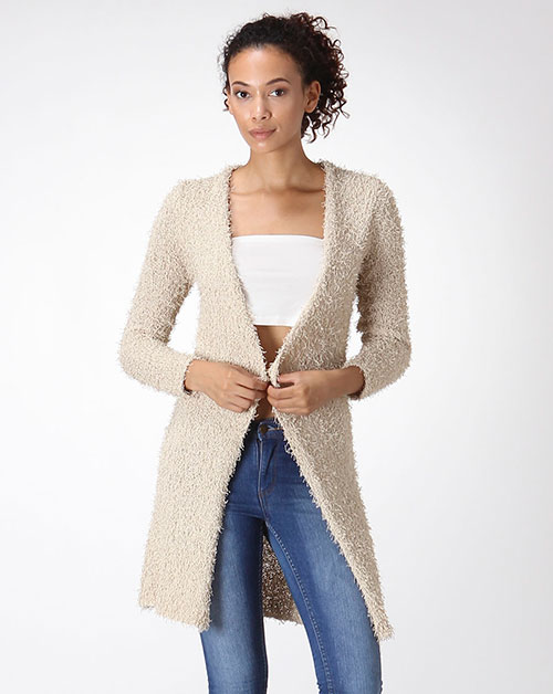 SOLID SWEATER CARDIGAN - orangeshine.com