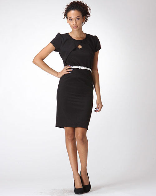 ILLUSION BOLERO SHEATH DRESS - orangeshine.com