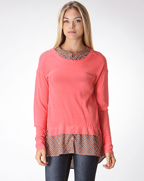 SHIRTS LAYERED SWEATER - orangeshine.com