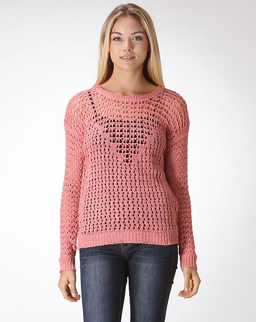 OPEN KNIT SWEATER - orangeshine.com