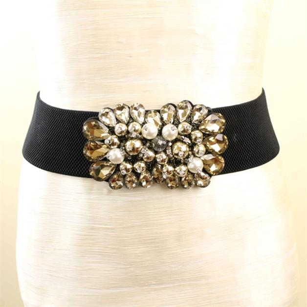 RHINESTONE FLOWER BELT - orangeshine.com