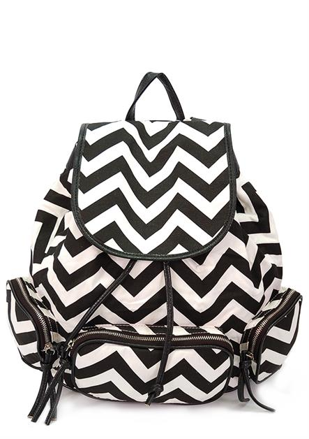 CANVAS CHEVRON BACKPACK - orangeshine.com
