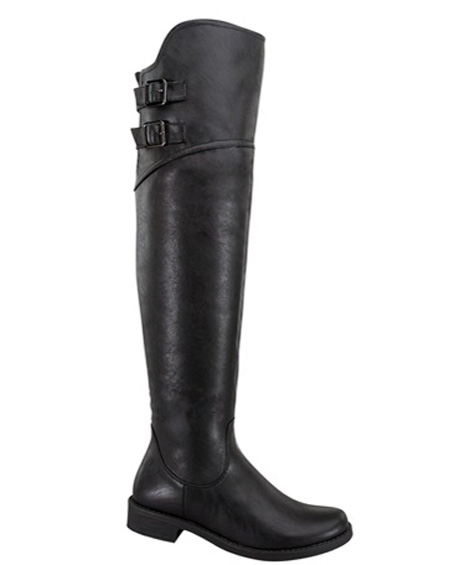 KNEE HIGH BUCKLED BOOTS - orangeshine.com