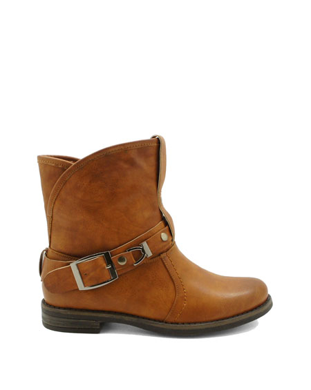 BUCKLED ANKLE BOOT - orangeshine.com