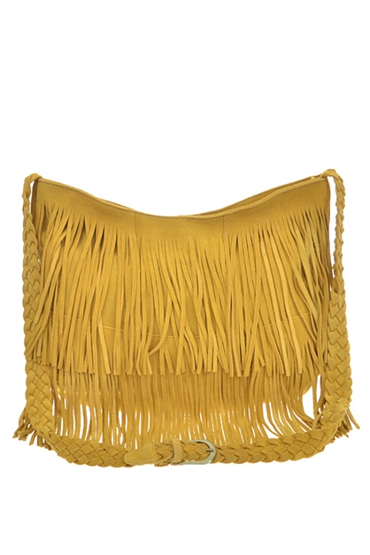 REAL LEATHER FRINGE HANDBAG - orangeshine.com