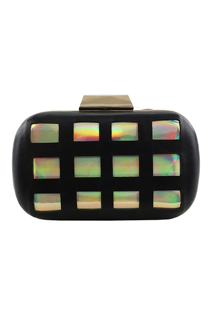 HOLOGRAM BOX CLUTCH - orangeshine.com