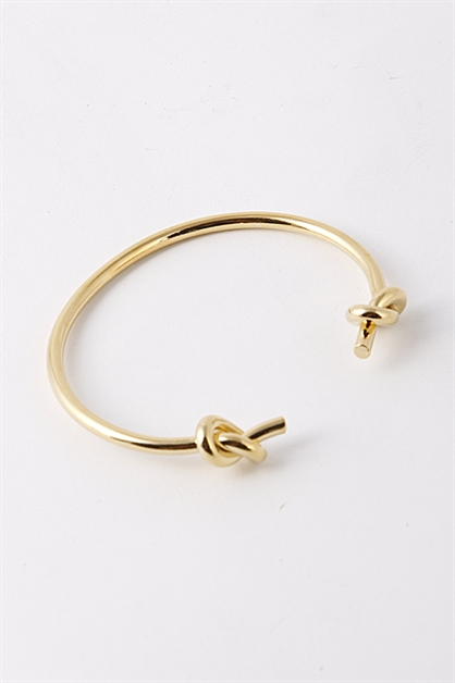 TIED KNOT END CUFF BRACELET - orangeshine.com
