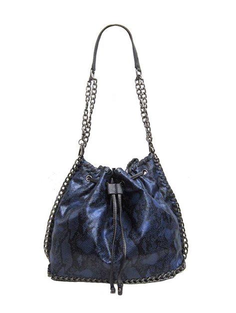 Snake Bucket Chain Bag - orangeshine.com