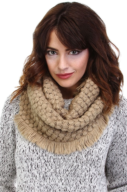 TEXTURED KNIT INFINITY - orangeshine.com