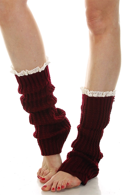 CABLE KNIT LONG BOOT CUFFS - orangeshine.com