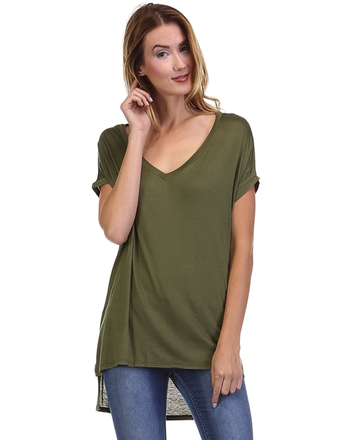 V-NECK OVERSIZED TEE - orangeshine.com
