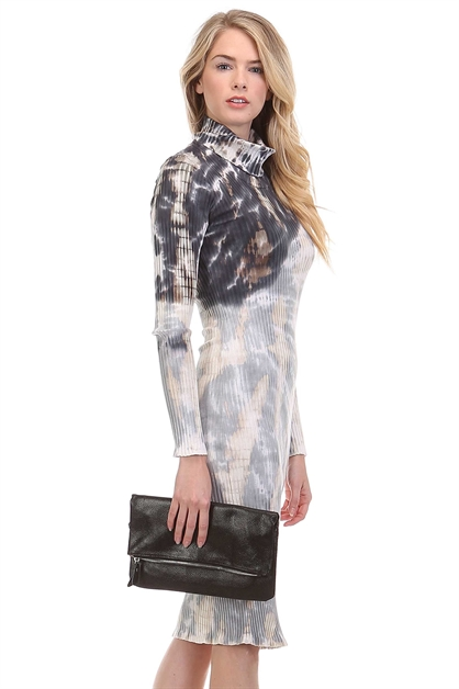 TURTLENECK TIE DYE DRESS - orangeshine.com