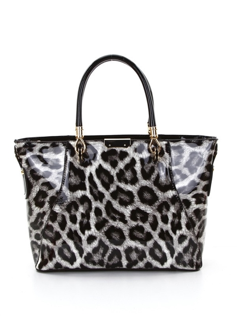 Patent animal print tote - orangeshine.com