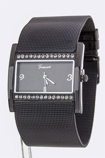 Mesh Band Square Watch - orangeshine.com