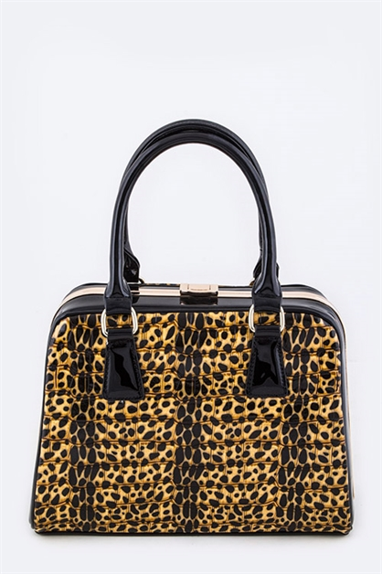 Croc Embossed Vinyl Hand Bag - orangeshine.com