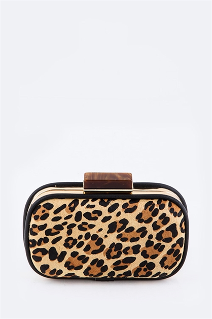Animal Print Box Clutch - orangeshine.com