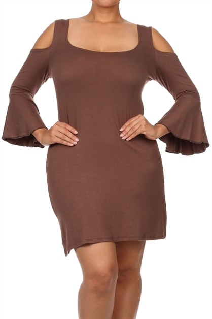 Bell sleeves dress - orangeshine.com