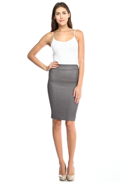 Stone Quilted Plus Size Skirt - orangeshine.com