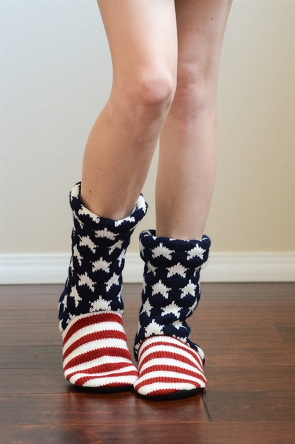 Americana Lounge Socks - orangeshine.com
