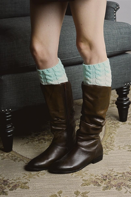 Peppered Ombre Bootcuff - orangeshine.com