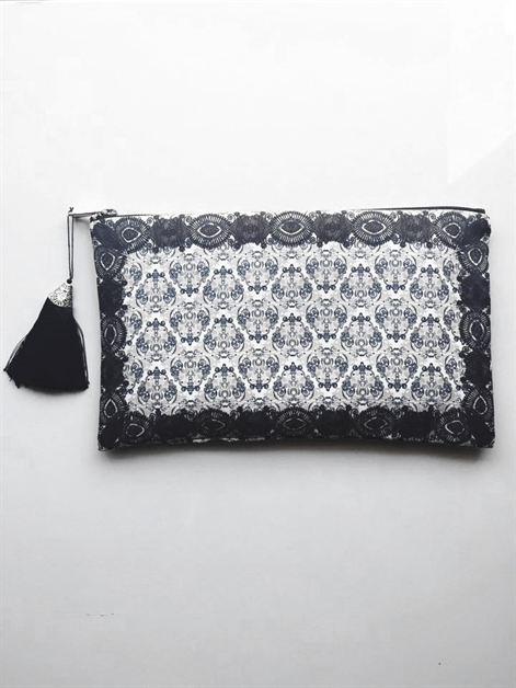 Black Edge Clutch - orangeshine.com