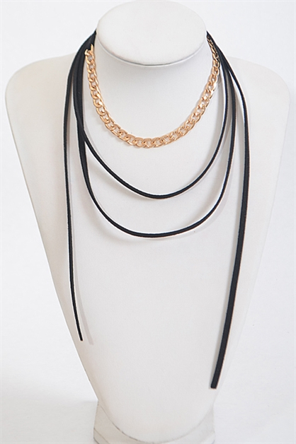 Simple Wrap Around Necklace - orangeshine.com