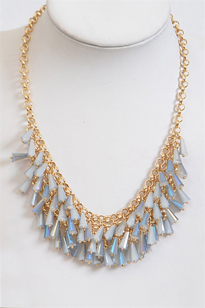 Chain Necklace with Fringes - orangeshine.com