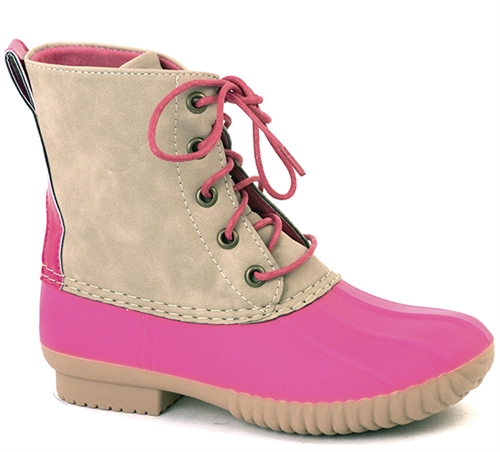 ZELDA HOT PINK DUCK BOOTS  - orangeshine.com