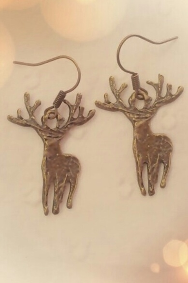 Deer or Stag Earrings - orangeshine.com