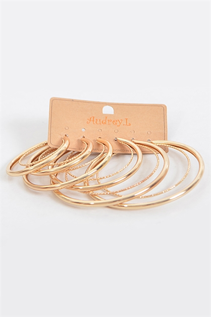 Thin and Thick Hoop Earrings - orangeshine.com