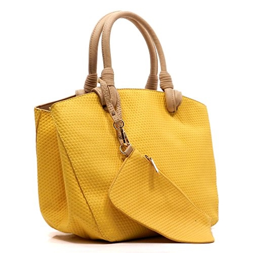 Quilted Top Handle Tote - orangeshine.com