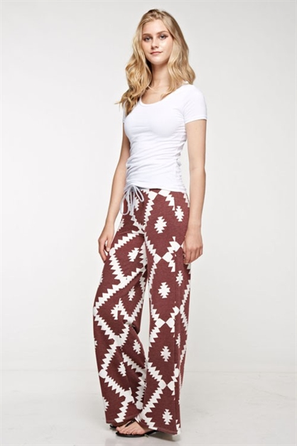 geometric print pants - orangeshine.com