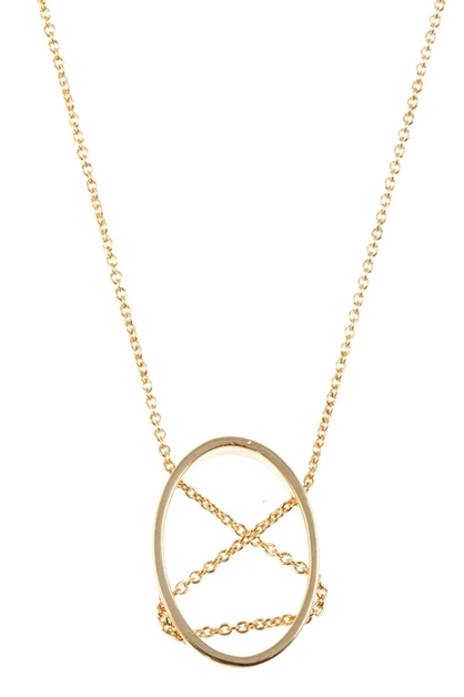 CRISSCROSS PENDANT NECKLACE - orangeshine.com