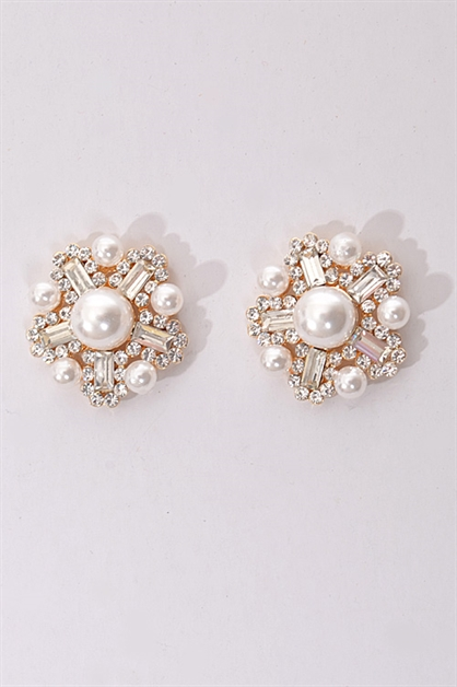 Starburst Pearl Earrings - orangeshine.com