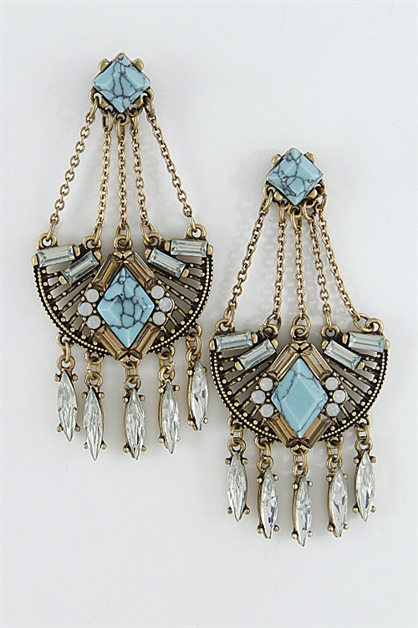 Antique Inspired Earrings - orangeshine.com