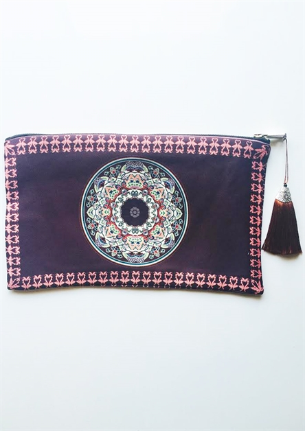 Plum Diamond Clutch 2 - orangeshine.com